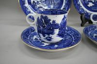 A Pair of Blue and White Willow Pattern Design Porcelain (6 of 8)