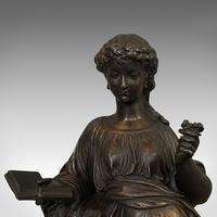Antique Bronze Figure, French, Female, After Moreau c.1920 (3 of 12)