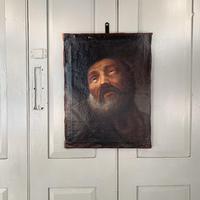 Antique Georgian oil painting portrait of elderly bearded gentleman (2 of 9)