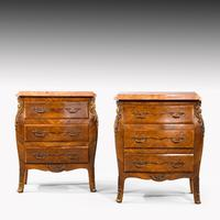 Unusual Pair of Kingwood Bombe Dwarf Commodes or Chests (3 of 5)