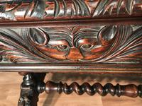 Victorian Carved Oak Desk Library Table (23 of 25)