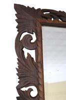 Florentine Carved Padauk Wall Mirror Overmantle c.1900 (2 of 6)