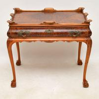 Antique Burr Walnut Tray Top Side Table (2 of 8)