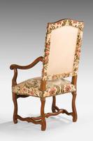 Pair of Beech Wood 17th Century Design Armchairs c.1900 (6 of 6)