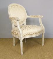19th Century French Painted Fauteil Armchair (5 of 9)