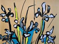 Large Beautiful 1958 Vintage Impressionist Floral Still Life Oil Painting (6 of 12)
