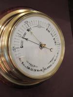 Antique Brass Bulkhead Marine Barometer (2 of 6)