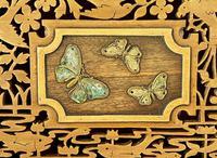 Unusual Pierced Box with Enamel Butterflies c.1920 (2 of 10)