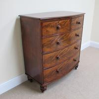 Mahogany Bow Front Chest of Drawers c.1850 (7 of 10)