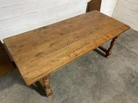 Oak Farmhouse Dining Table with Extensions (11 of 18)