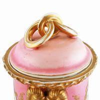 Victorian Coalport Porcelain Vase & Cover (6 of 8)