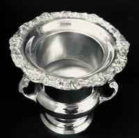 Large Silver Plated Two Handle Ice / Wine / Champagne Bucket (4 of 5)