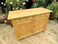Large Old Pine Dresser Base Sideboard / Cupboard /  TV Stand - We Deliver (3 of 9)