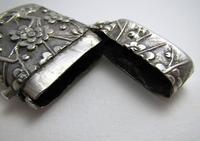Very Rare Wang Hing Solid Silver Chinese Export Antique Vesta Case Match Box, 19th-Century c.1890 (7 of 9)