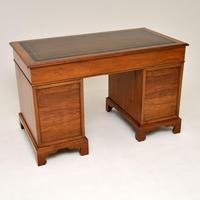 Antique Victorian  Walnut Pedestal Desk (11 of 11)