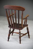 Antique Elm & Beech Lathe Back Kitchen Chair Armchair (8 of 11)