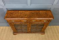 Burr Walnut Bookcase or Side Cabinet (6 of 18)