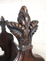 Carved Oak Antique Pew (8 of 11)