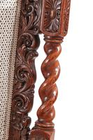 Fine Pair of Antique Carved Oak Armchairs c.1880 (3 of 13)