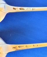 Pair of Georgian Silver Straining Spoons (4 of 4)