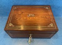 William IV Rosewood Box with Mother of Pearl Inlay (4 of 13)