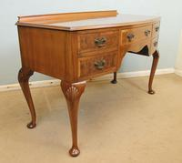 Burr Walnut Bow Front Writing Side Table (2 of 10)