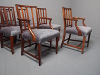 Antique Set of 8 George III Mahogany Dining Chairs (9 of 11)