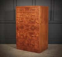 Art Deco Figured Walnut Chest by Maple & Co. (5 of 13)