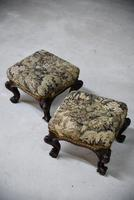 Pair of Antique Victorian Footstools (9 of 11)