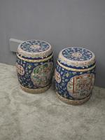 Pair of Chinese Qing Dynasty Painted Barrels / Seats (2 of 17)
