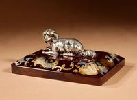 """Amusing and Decorative German """"silver"""" and Rubin Glass Press Papier (5 of 8)"""