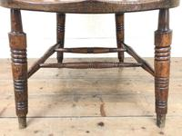 Antique Ash and Elm Smoker's Bow Chair (m-2303) (5 of 10)