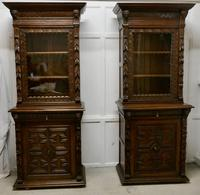 Pair of French Carved Gothic Oak Bookcases (3 of 12)