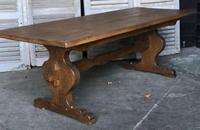 French Farmhouse Trestle Dining Table (9 of 15)
