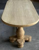 Large French Bleached Oak Monastery Dining Table (17 of 18)