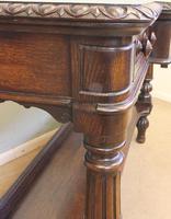 Antique Oak Victorian Shaped Sideboard Server (10 of 15)