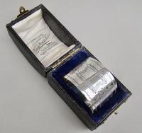 Cased Victorian Silver Napkin Ring by Hilliard & Thomason, Birmingham 1895 (2 of 5)