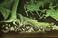 Magnificent Art Deco Illuminated Etched & Engraved Very Large Glass Wall Decoration (5 of 13)