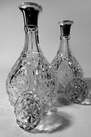 Exceptional Pair of Early 20th Century Cut-Glass English Silver Decanters (5 of 5)