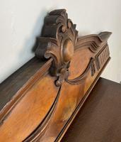 Antique French Pediment Walnut Panel Architectural Salvage Ceil De Lit (4 of 9)