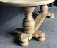 Bleached Oak Farmhouse Dining Table (3 of 12)