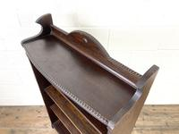 Early 20th Century Antique Oak Bookcase with Four Shelves (9 of 10)