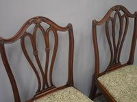 Pair of George III Mahogany Dining Chairs (4 of 10)