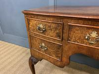 Burr Walnut Bow Fronted Desk / Table c.1910 (4 of 13)