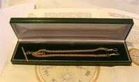 Vintage Pocket Watch Chain 1950s 14ct Rolled Gold Double Albert With Sliding T Bar (11 of 11)