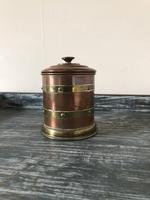 Arts & Crafts Copper & Brass Tobacco Jar