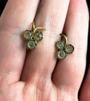 Antique Victorian 18ct Gold Paste Earrings, Grapes (10 of 10)