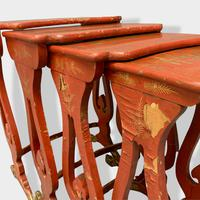 Crutsy Nest of 4 Chinese Red Lacquered Tables (5 of 13)