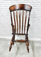 Large Windsor Lathback Armchair c.1890 (8 of 8)