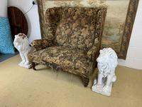 19th Century Two Seat Wingback Settee (2 of 8)